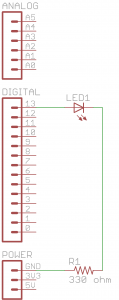 Schematic Diagram for the Blink Project