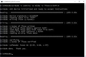 AVRDude Programming an AVR Fuse